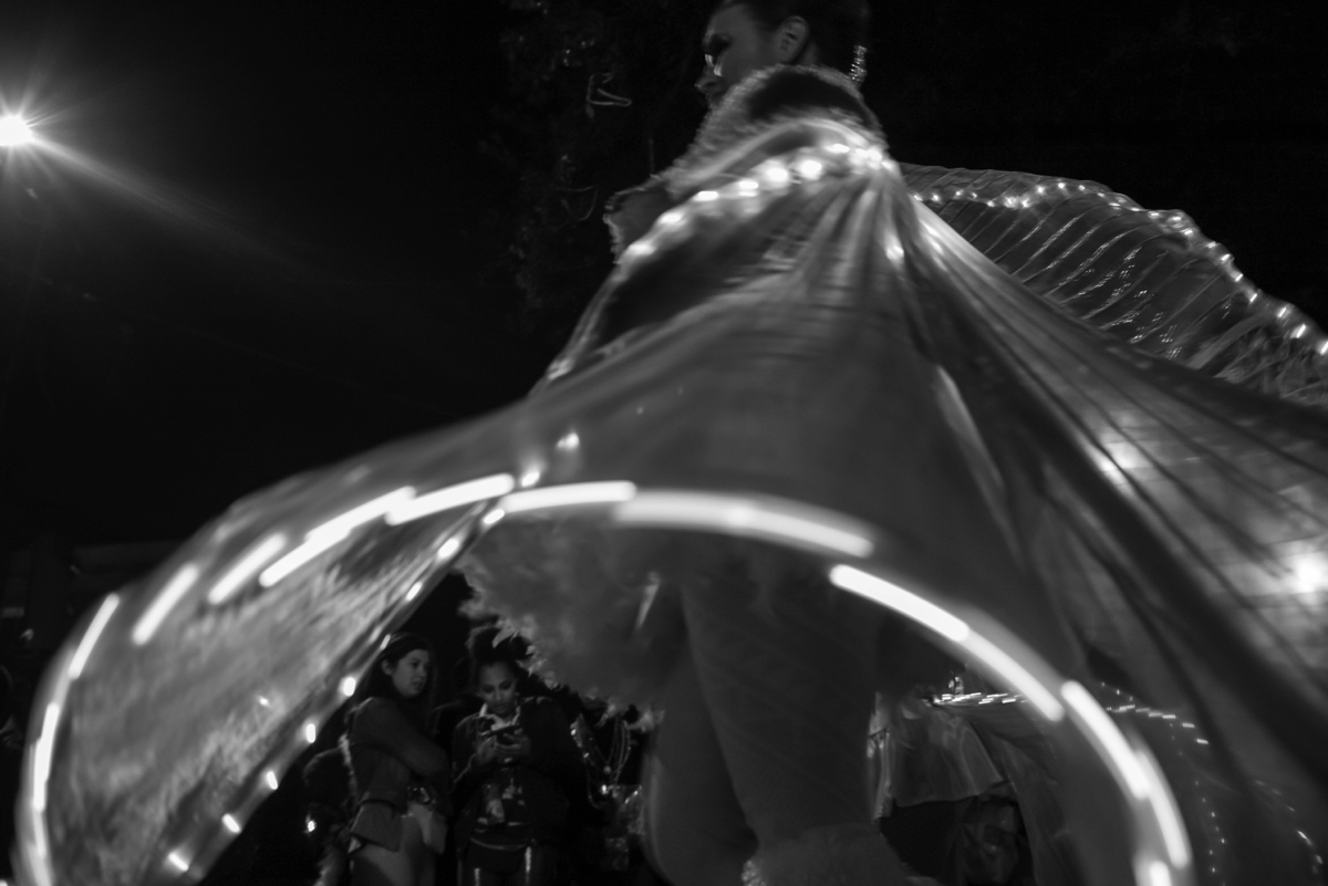 Chip Kahn - New Orleans, Black and White. Mardi Gras.
